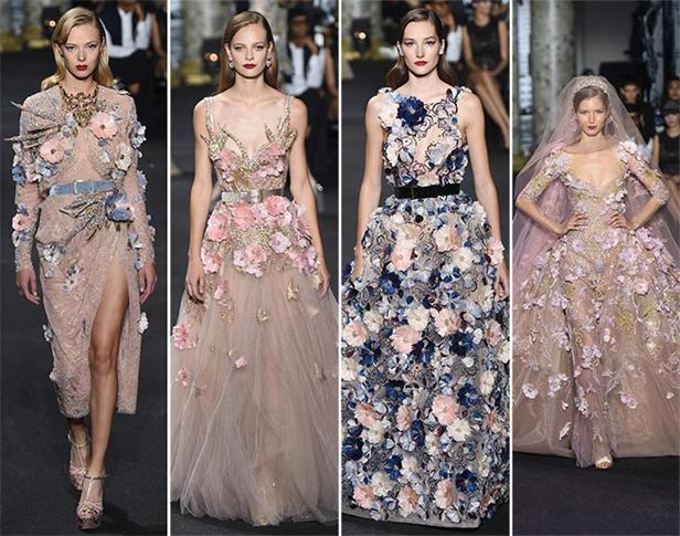 -Blume-Abendkleid-Brautkleid